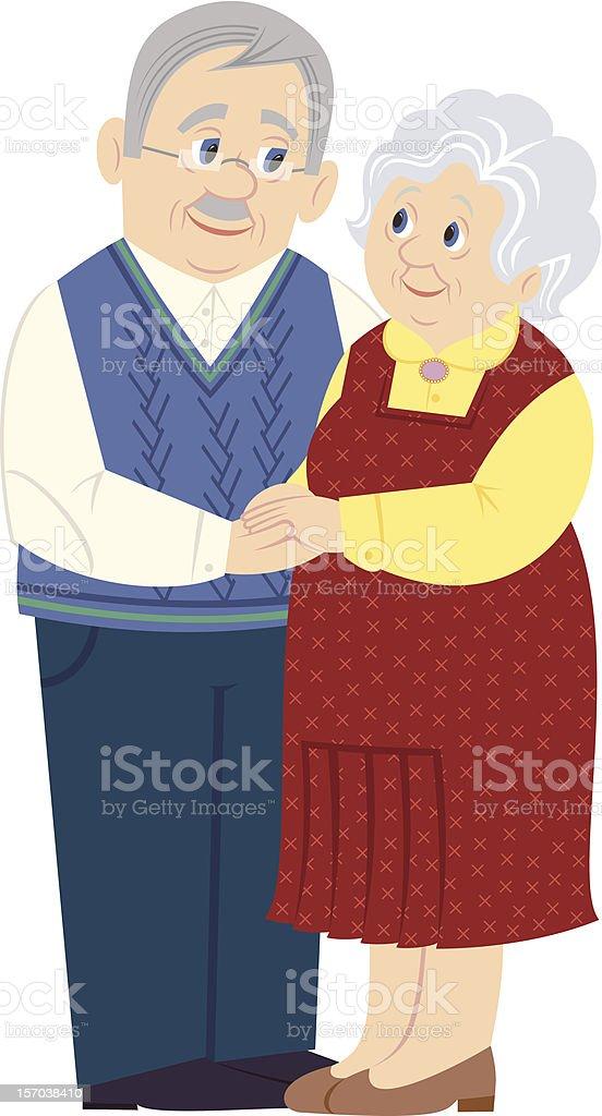 Grandparents royalty-free stock vector art
