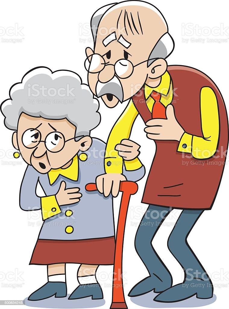 Grandparents. Vector illustration royalty-free stock vector art
