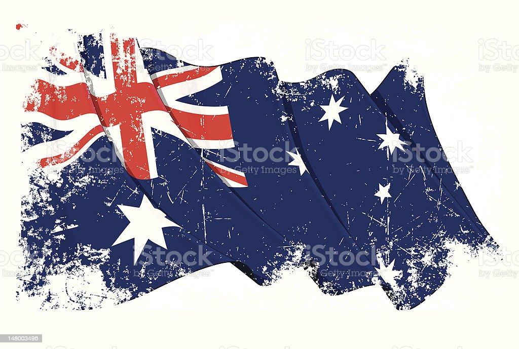 Grange Flag of Australia vector art illustration