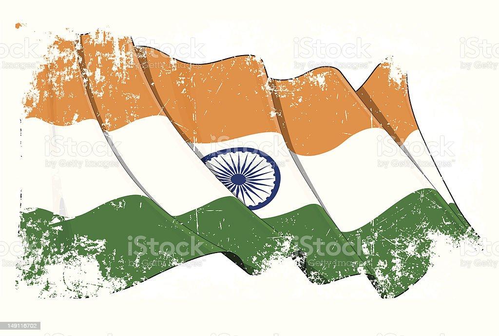 Grange Flag of India royalty-free stock vector art
