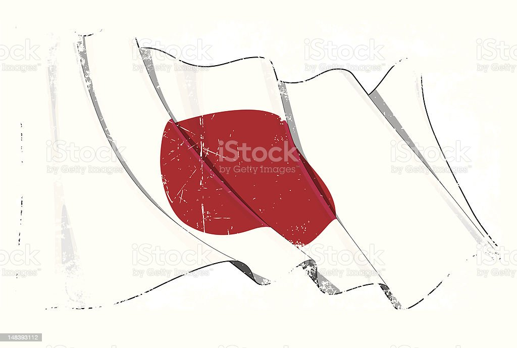 Grange Flag of Japan royalty-free stock vector art