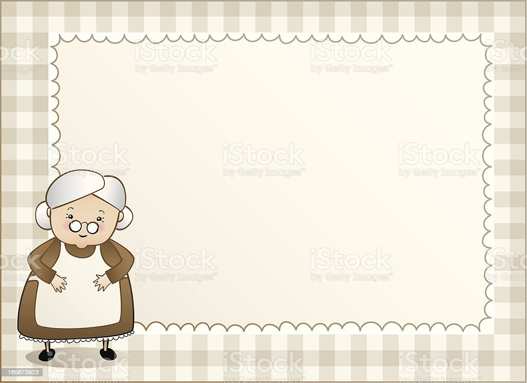 Granny gingham background left royalty-free stock vector art