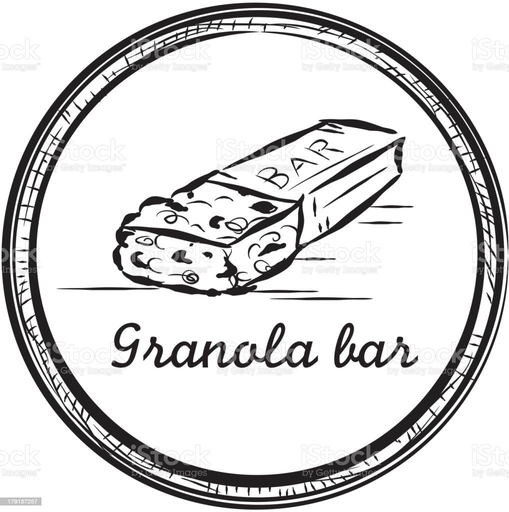 Image result for granola bar image line drawing