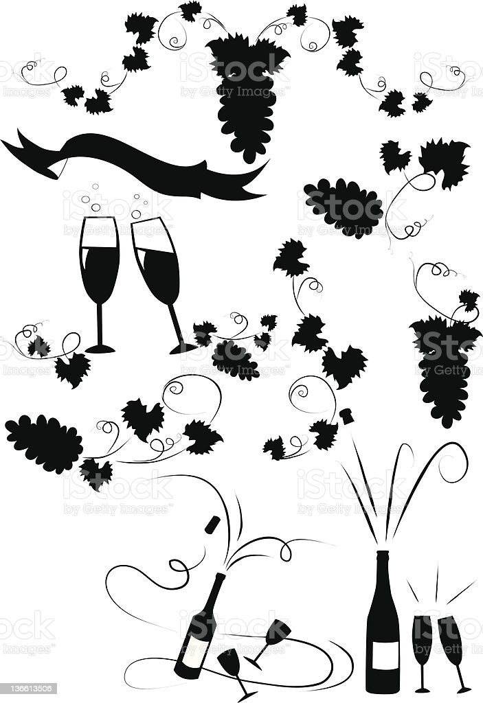 Grape and wine design royalty-free stock vector art