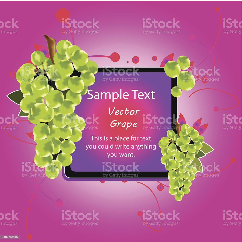 grape border vector art illustration
