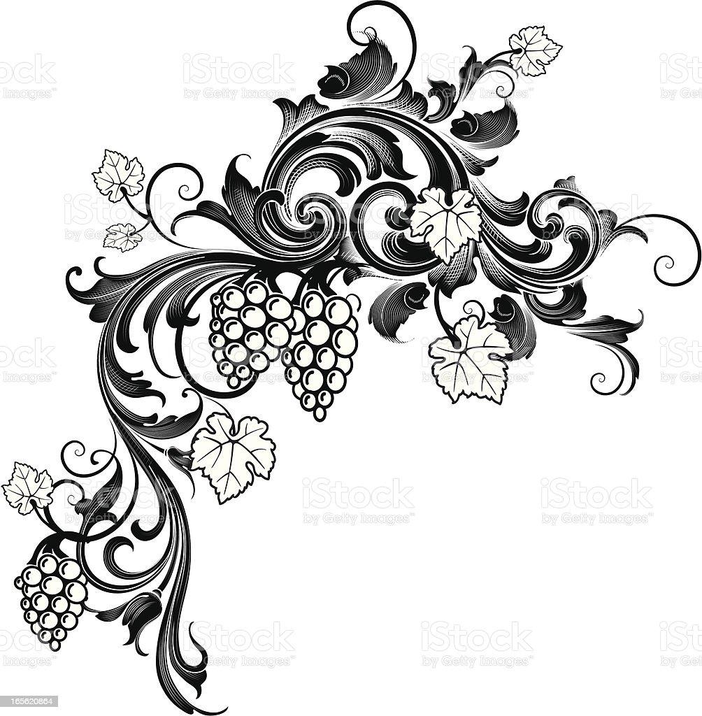 Grape Cascade royalty-free stock vector art