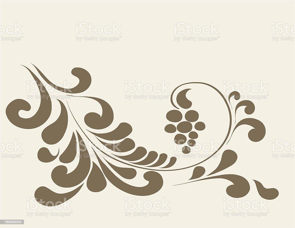 Grape, decorative ornament , Vector royalty-free stock vector art