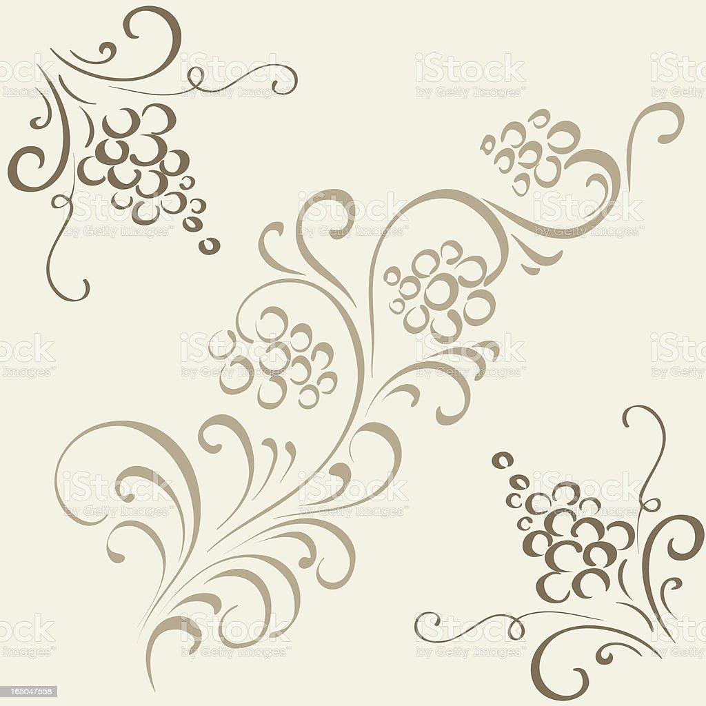 Grape, decorative ornament, vector royalty-free stock vector art