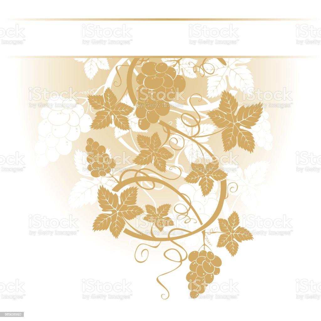 Grape Design Elements royalty-free stock vector art