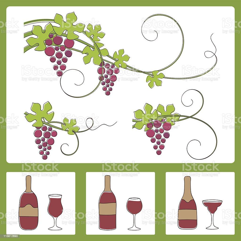 Grape design elements. Vector illustration. royalty-free stock vector art