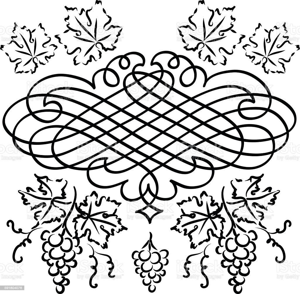 Grape design vector art illustration