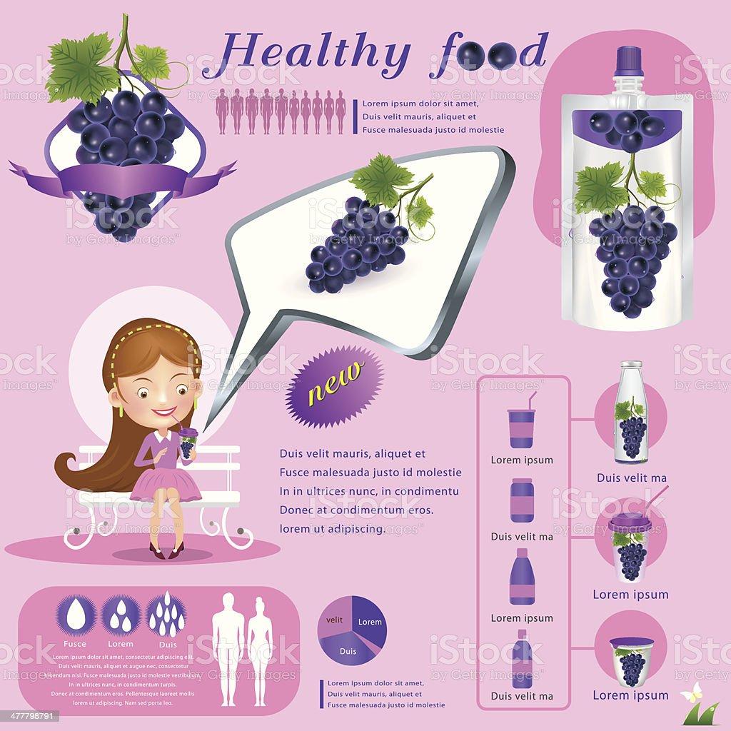 Grape  juice infographics .vector illustration royalty-free stock vector art