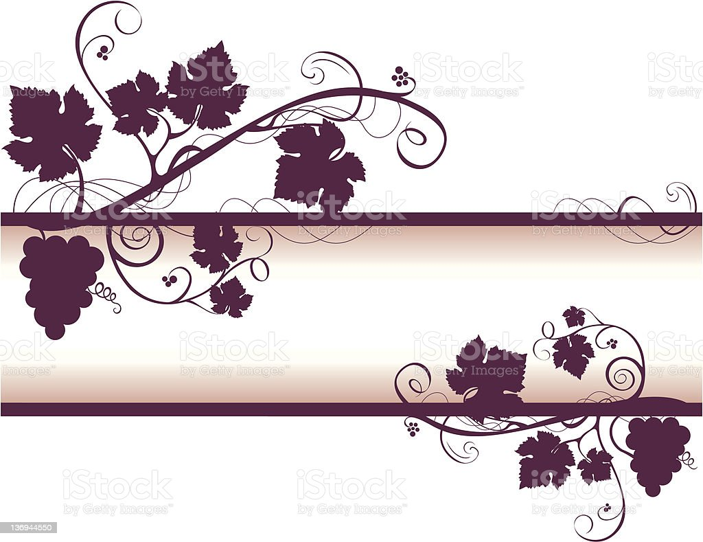 Grape VIne Frame royalty-free stock vector art