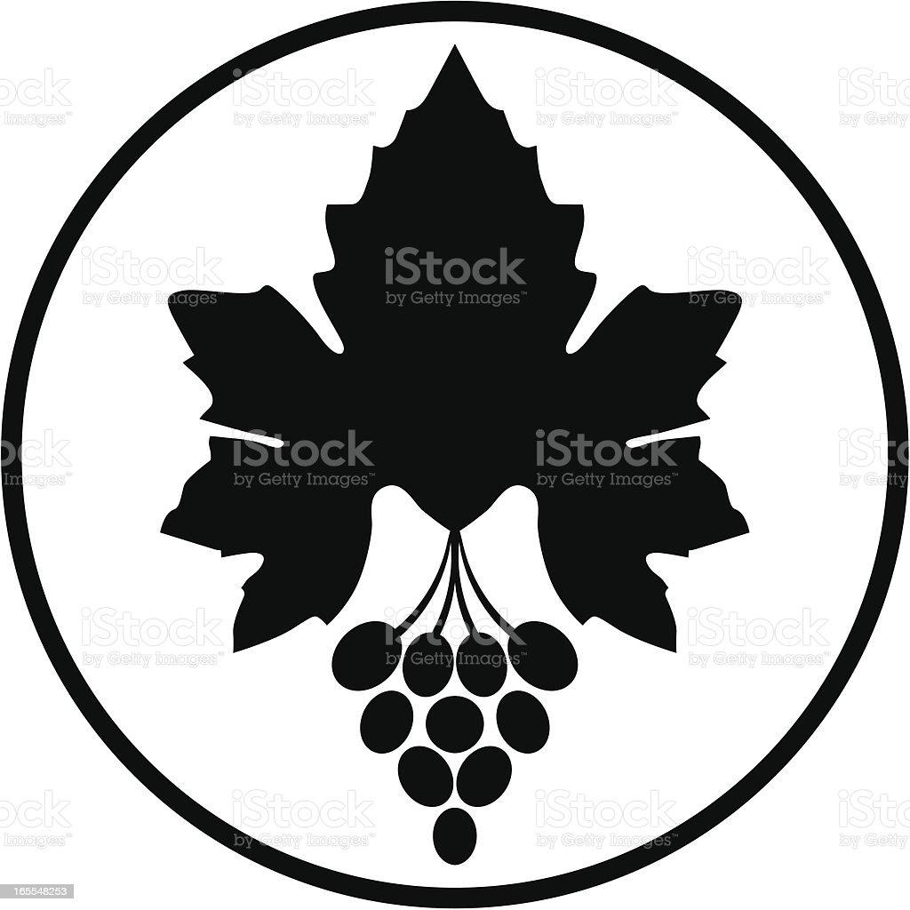 Grape vines sign royalty-free stock vector art