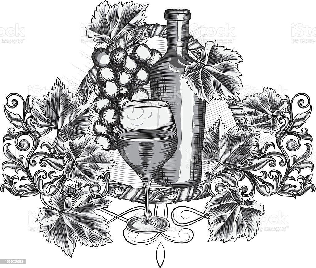 Grape & Wine royalty-free stock vector art