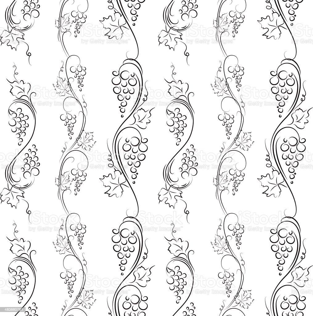 grapes pattern royalty-free stock vector art