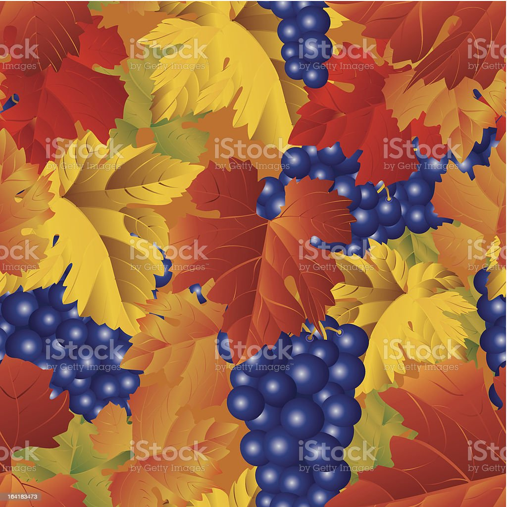Grapes seamless pattern royalty-free stock vector art