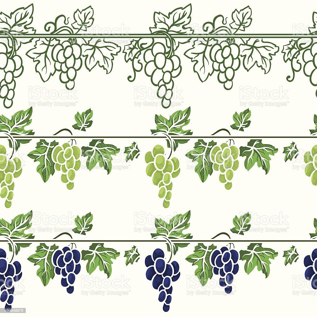 grapes vector royalty-free stock vector art