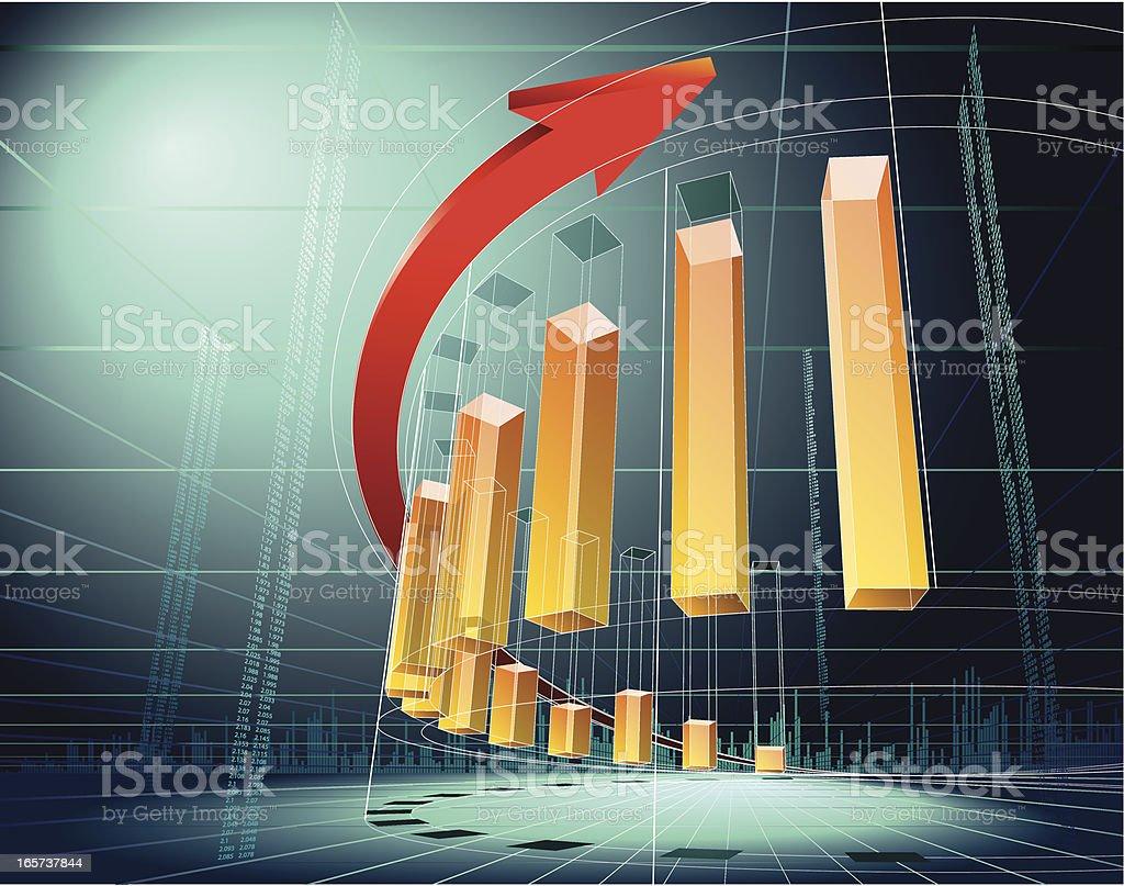 3D graph 10 royalty-free stock vector art