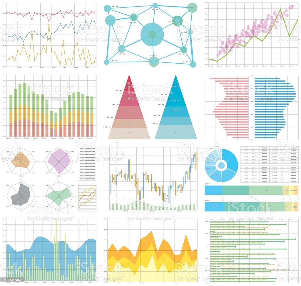 graph chart vector art illustration