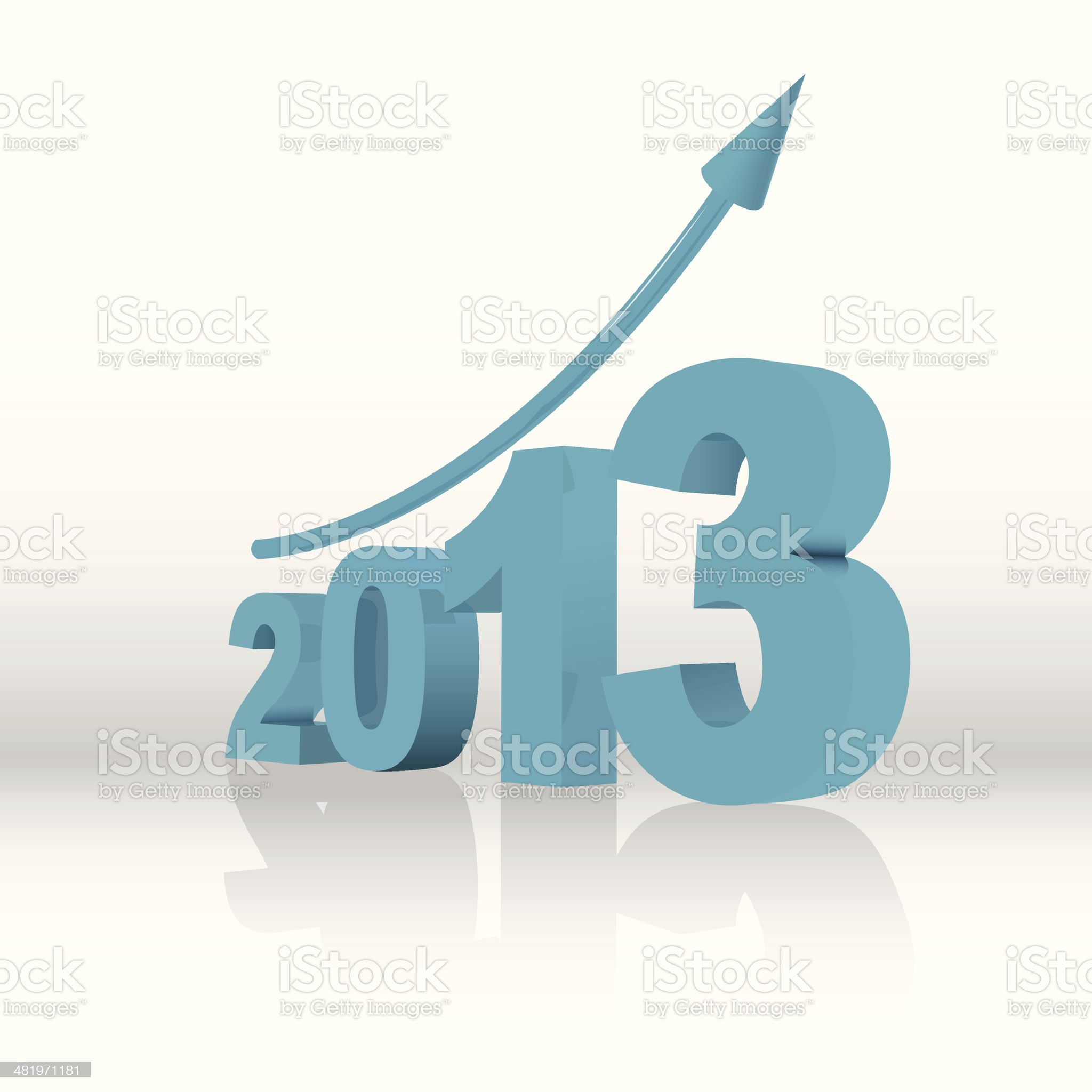 graph for 2013 royalty-free stock vector art