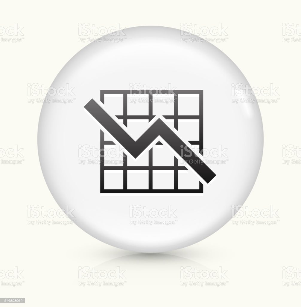 Graph icon on white round vector button vector art illustration