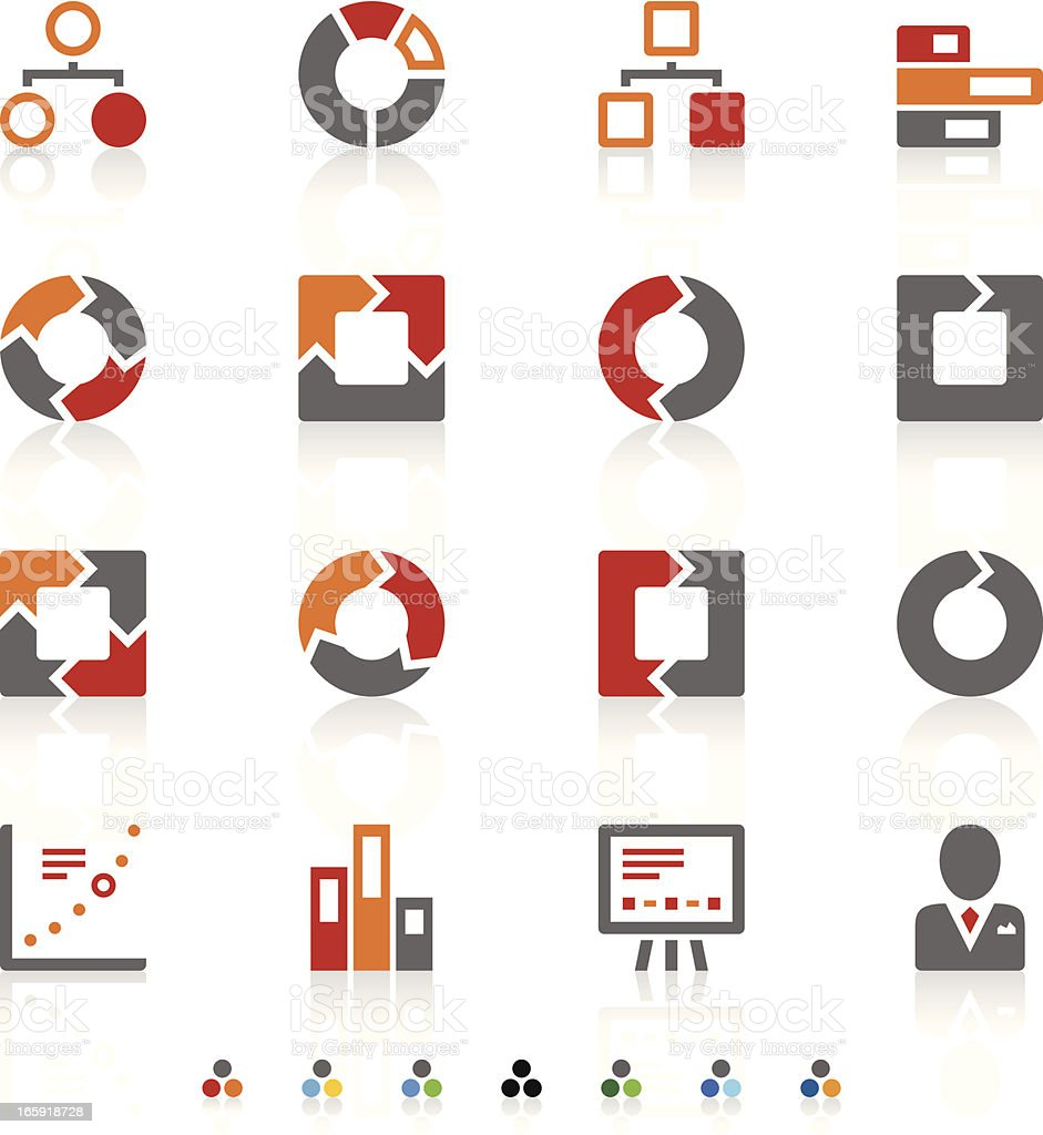 Graph icons royalty-free stock vector art