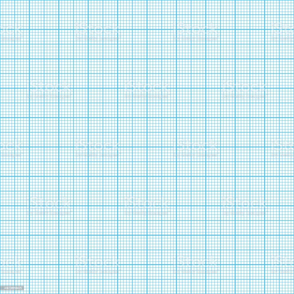 Graph, millimeter paper vector art illustration