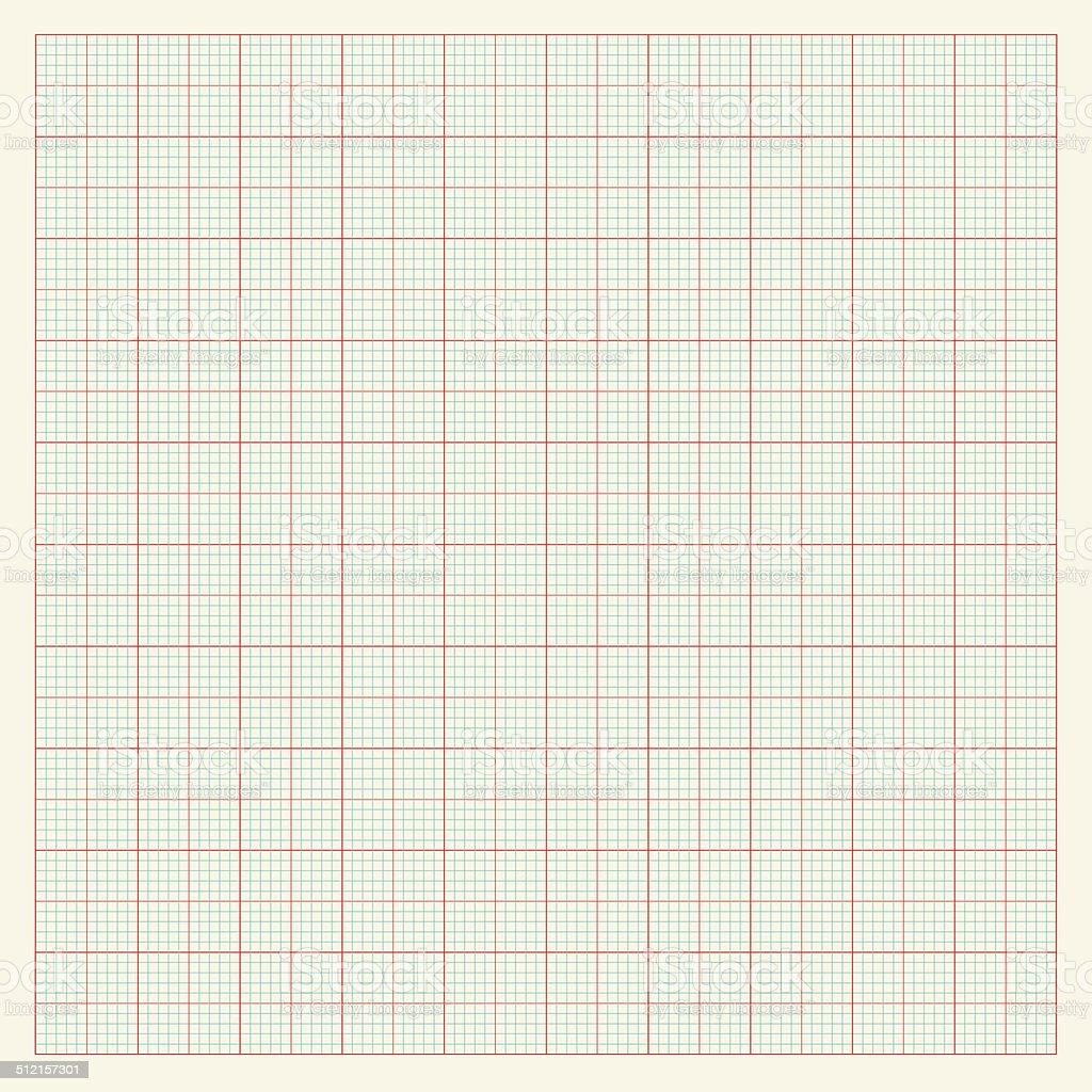 Graph paper background vector art illustration