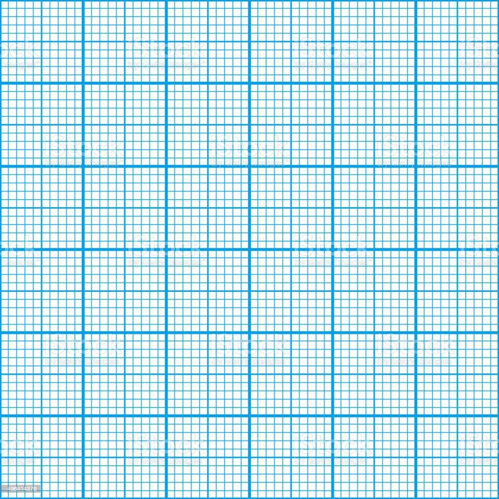 Graph paper cyan color, seamless pattern vector art illustration