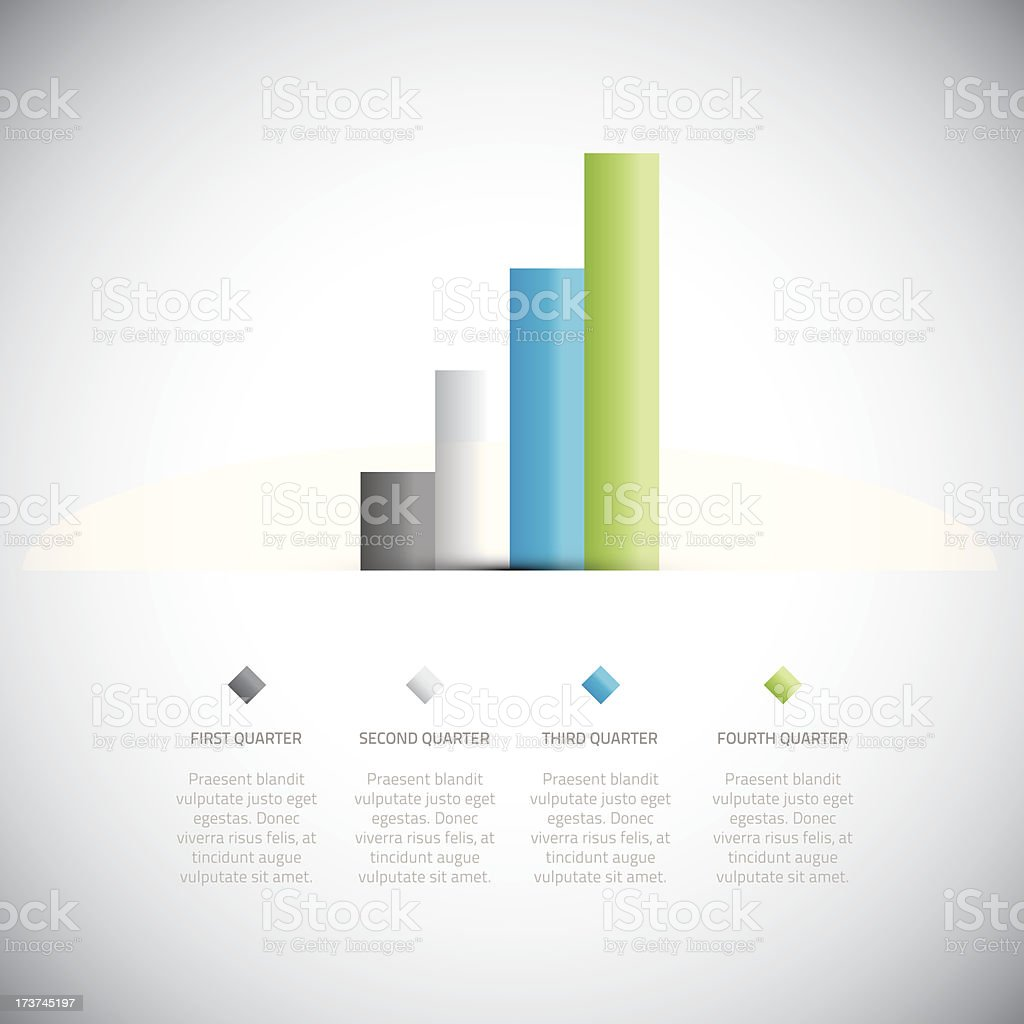 Graph presentation infographic template vector eps10 royalty-free stock vector art