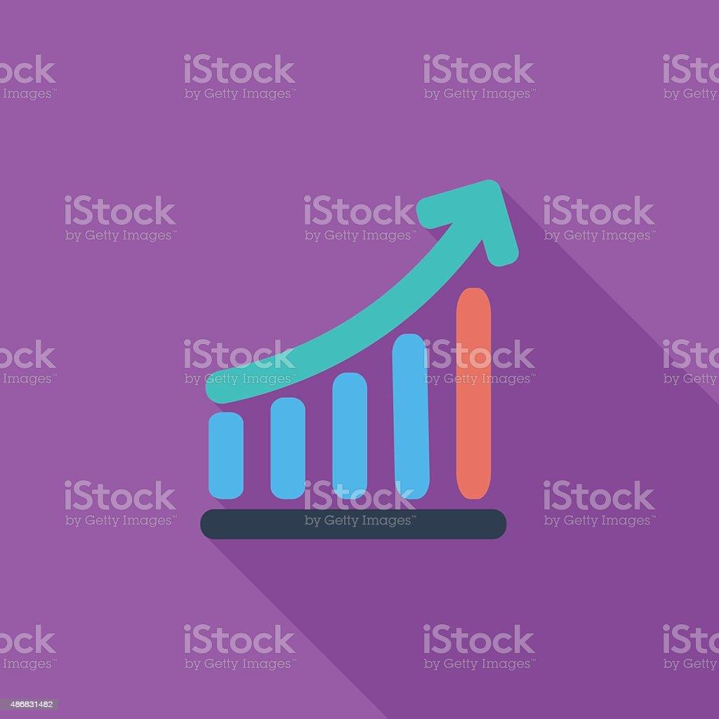 Graph single icon vector art illustration