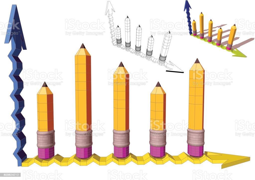 graph vector art illustration