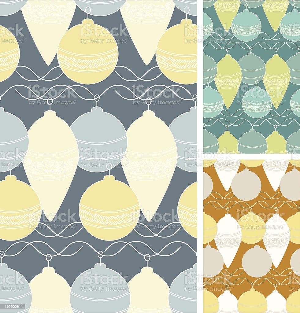 Graphic Baubles - Three Seamless Patterns, Grey,Green, Orange royalty-free stock vector art