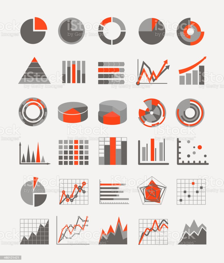 Graphic business ratings and charts vector art illustration