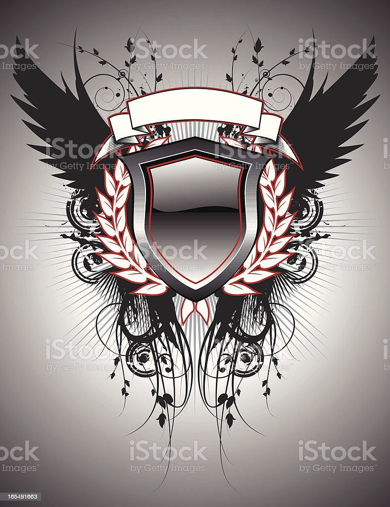 graphic crest royalty-free stock vector art