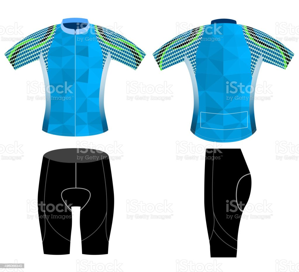 Graphic cycling vest vector art illustration