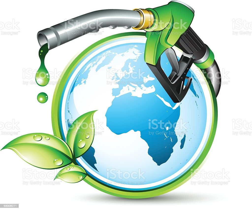 Graphic depicting the green energy concept royalty-free stock vector art