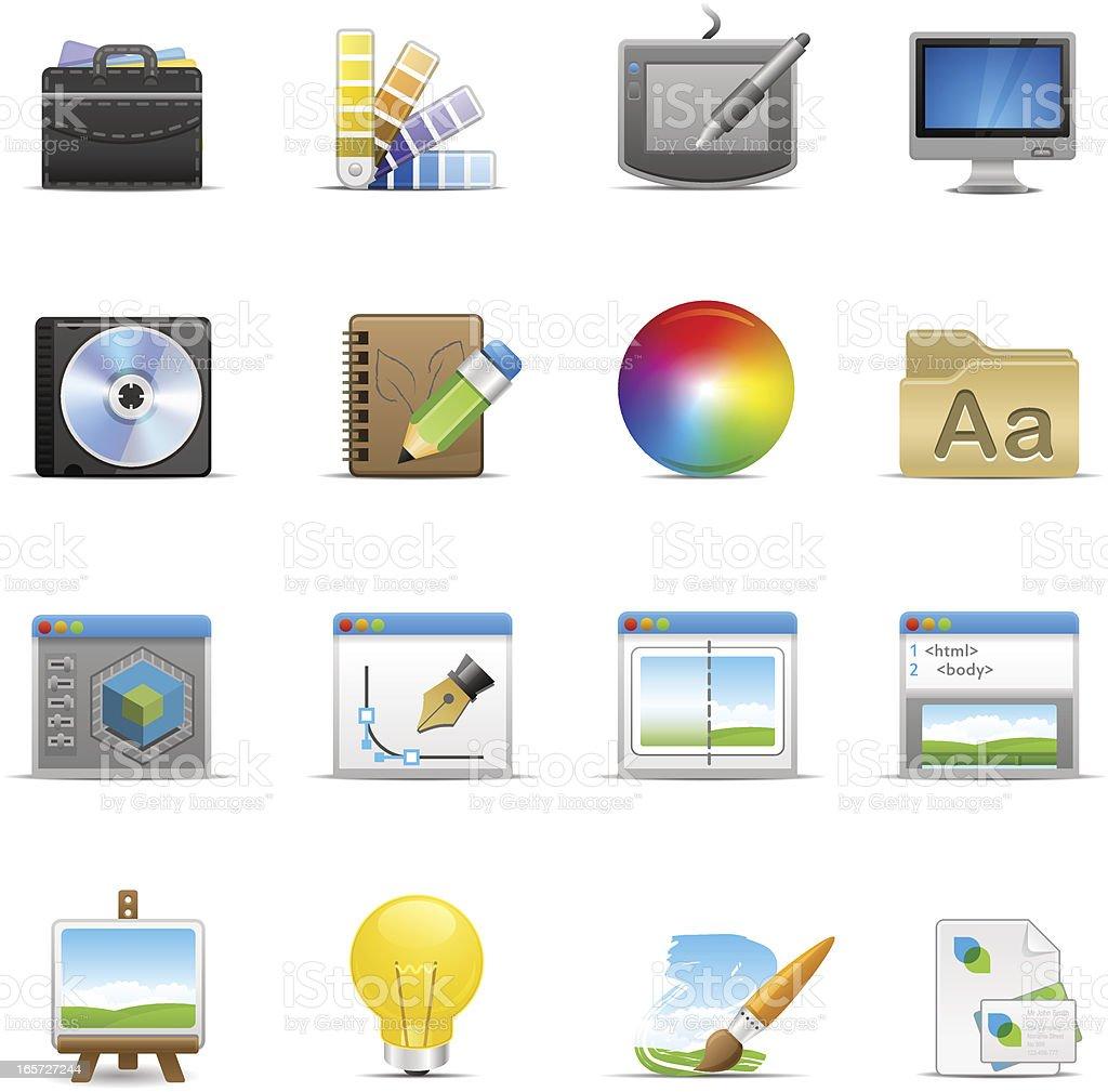 Graphic Design Icon Set | Optima Series royalty-free stock vector art