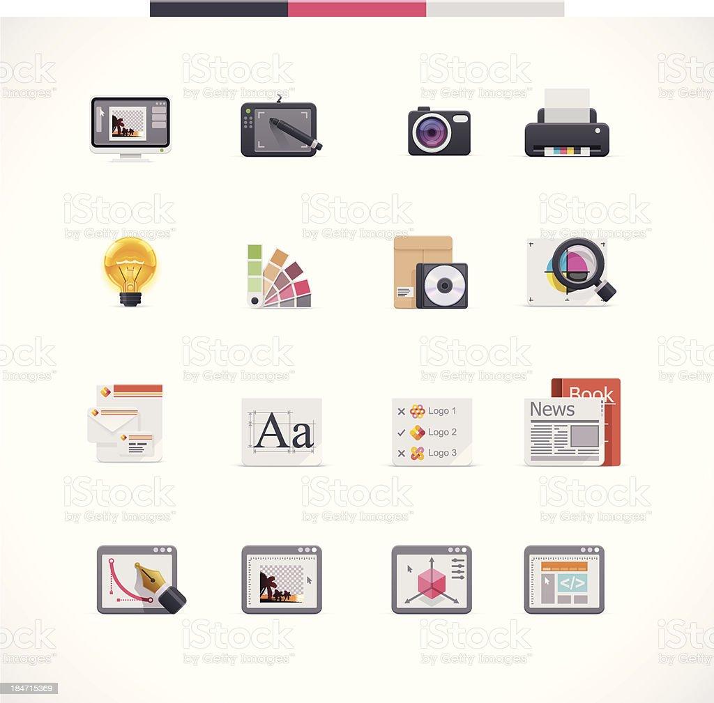 Graphic design icon set vector art illustration