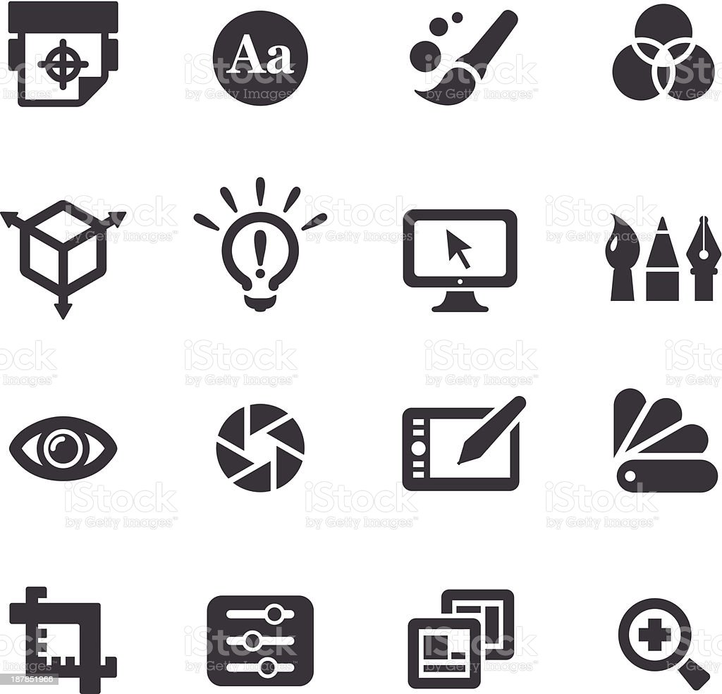 Graphic Design Icons - Acme Series vector art illustration