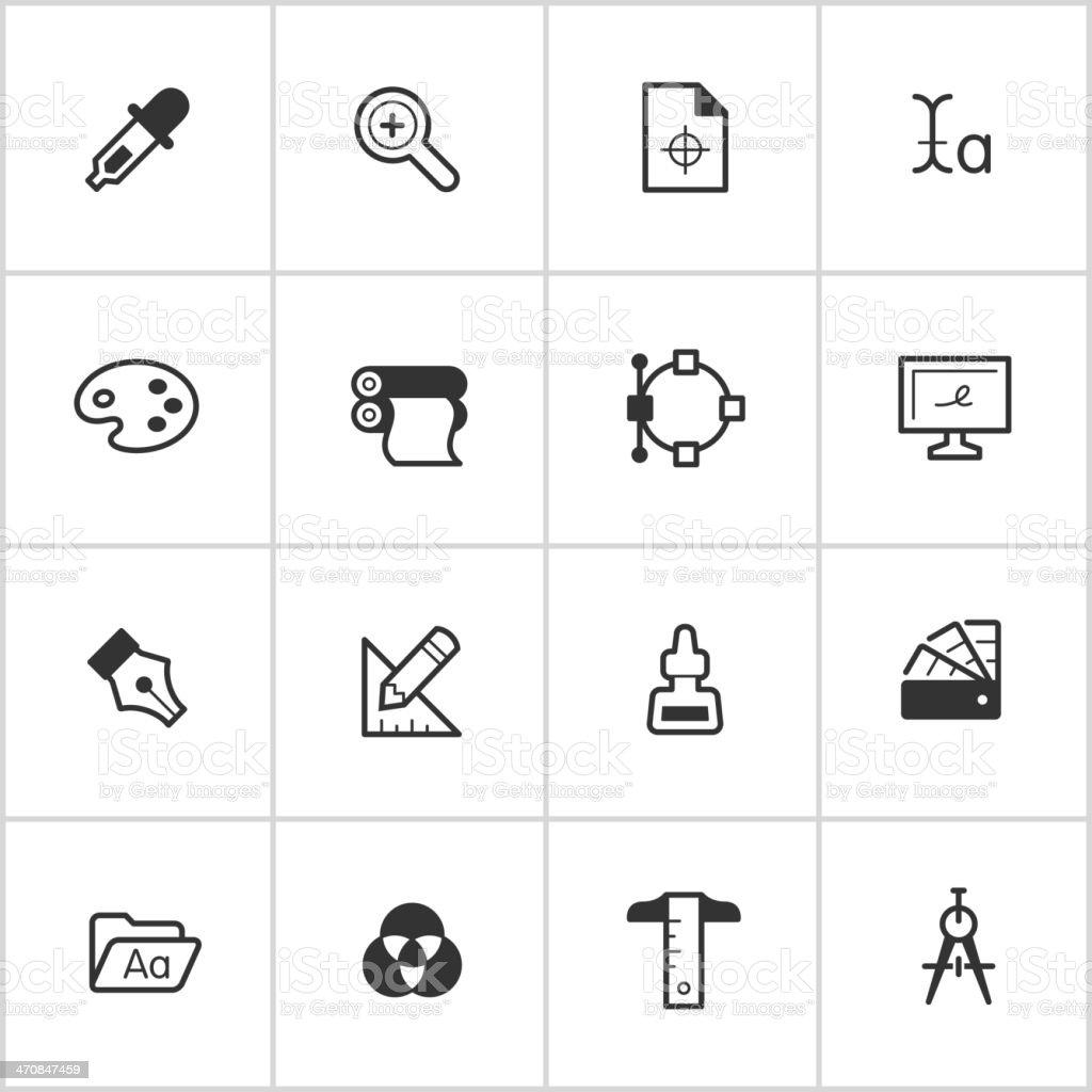 Graphic Design Icons — Inky Series stock photo