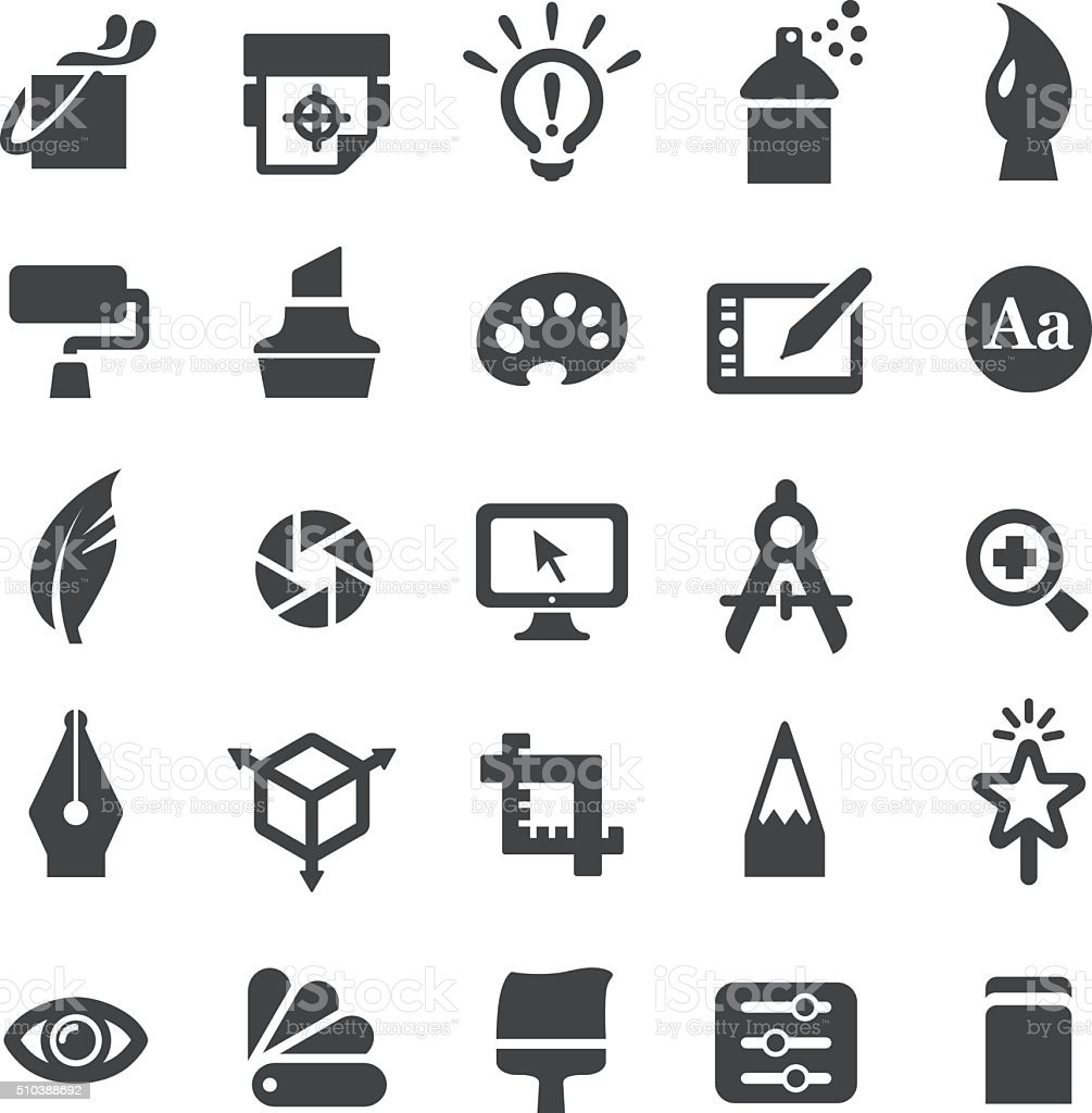 Graphic Design Icons Set - Smart Series vector art illustration