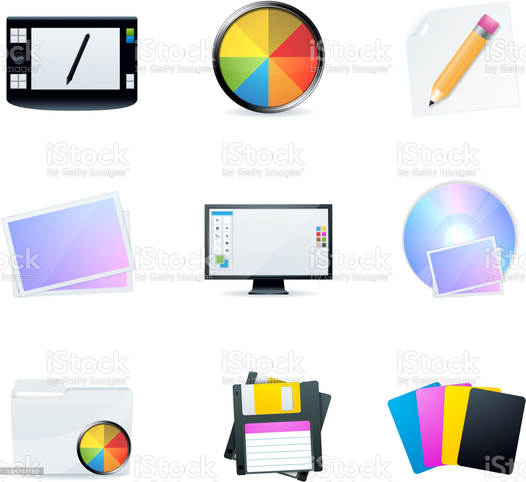 Graphic design icons royalty-free stock photo