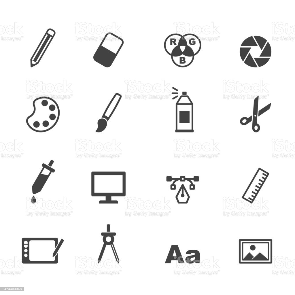graphic design icons vector art illustration