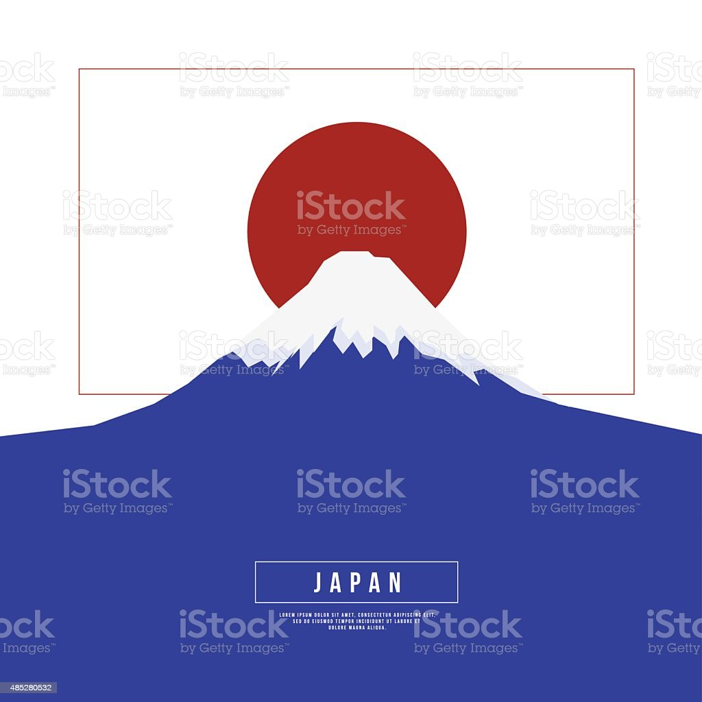 Graphic Design Japan Concept vector art illustration