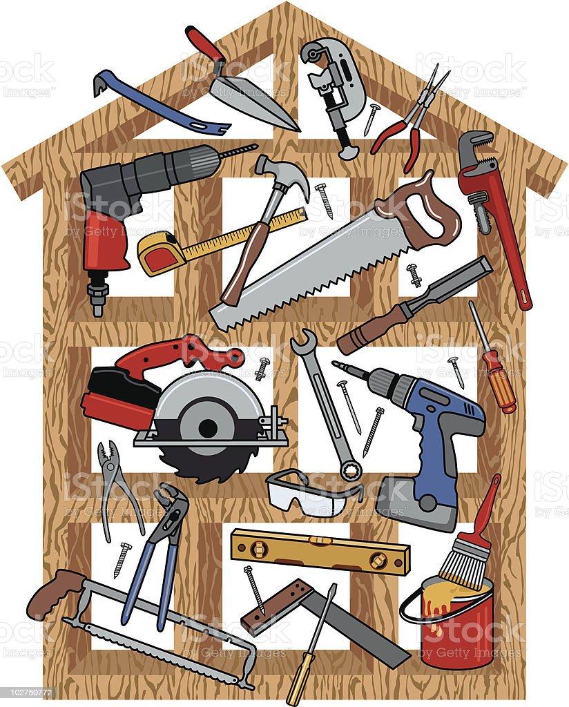 Hausbau Vektorgrafiken und Illustrationen - iStock