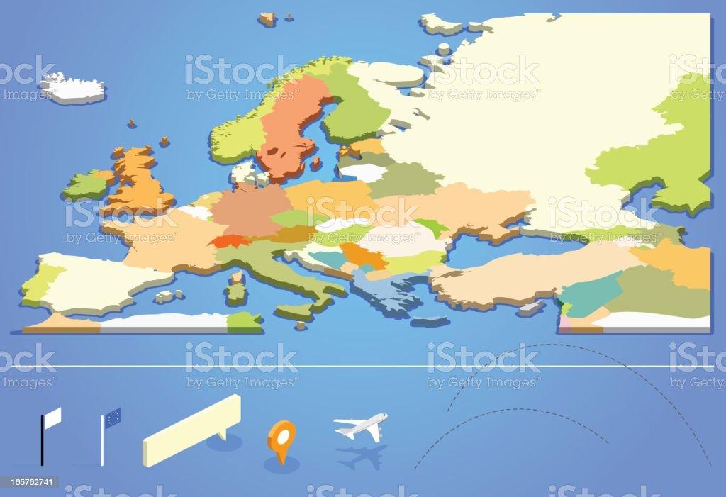 Graphic design of European map royalty-free stock vector art
