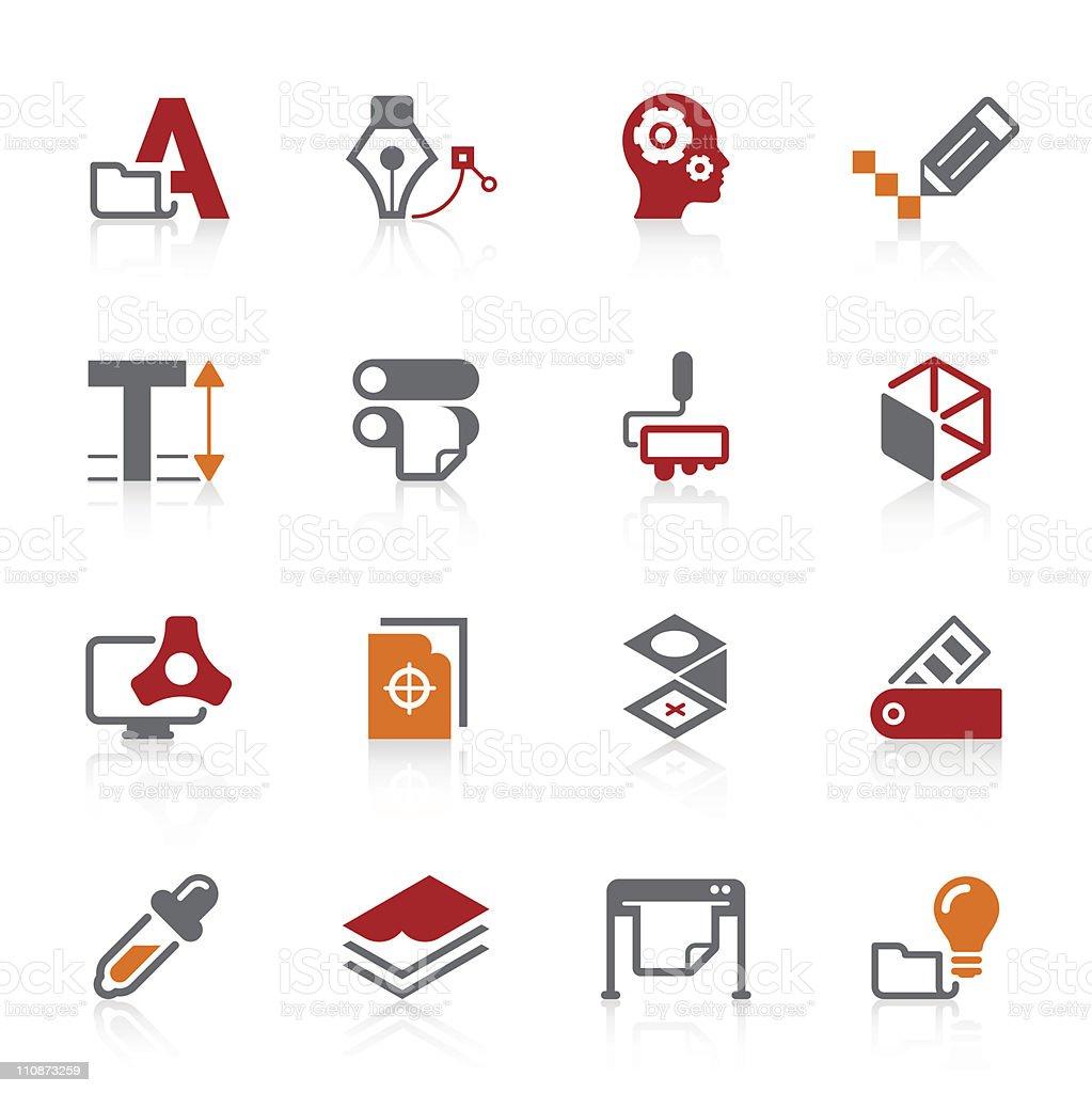 Graphic design & Print icons   Alto series vector art illustration