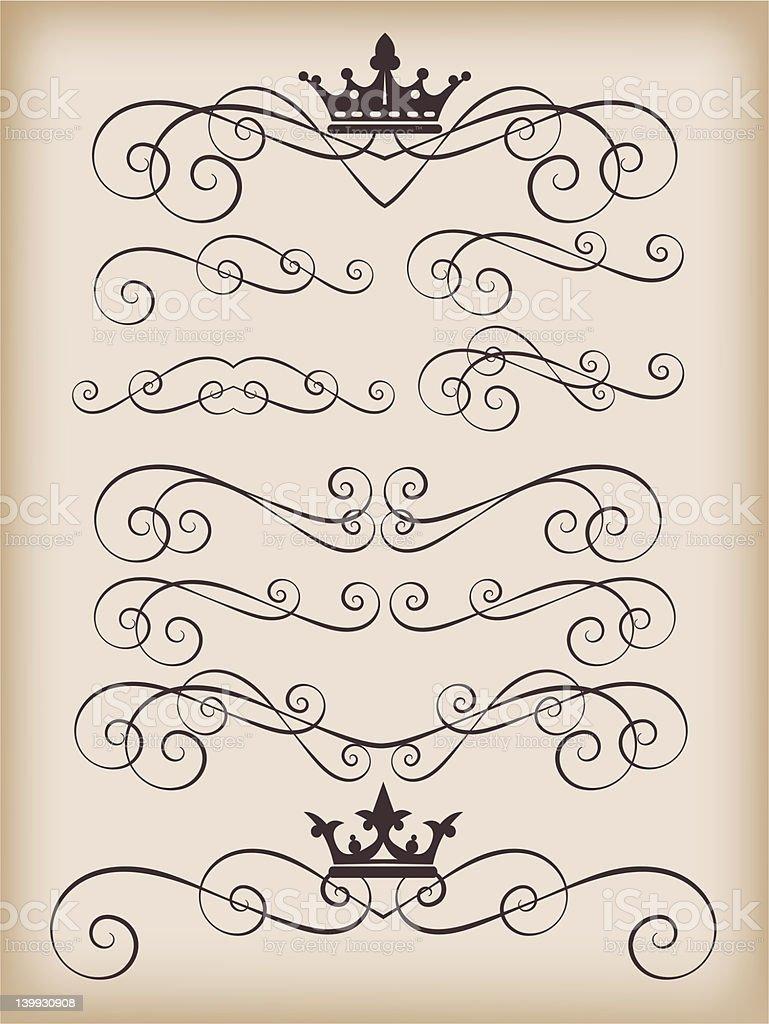 graphic design, set, 2 royalty-free stock vector art